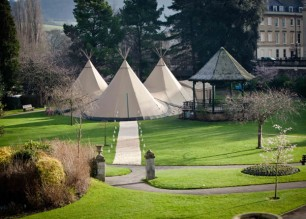 Garden party teepee hire - alternative to a luxury marquee