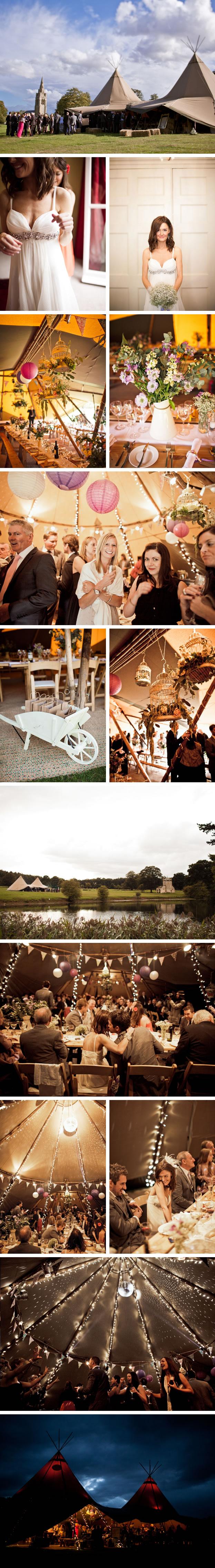 Nina & Graeme PapaKata Teepee Wedding Exton Park, Rutland
