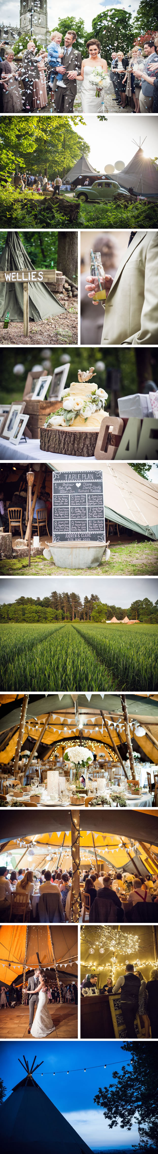 Claire & Andrew PapaKata Teepee Wedding at Hodsock Priory, Nottinghamshire
