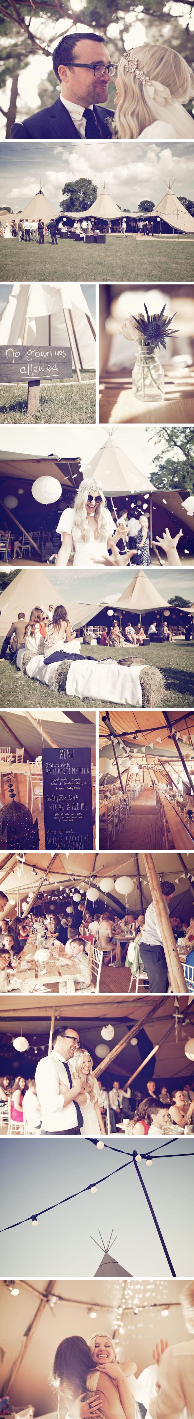 Sarah & Kevin PapaKata Teepee Wedding at Standlow Farm, Derbyshire