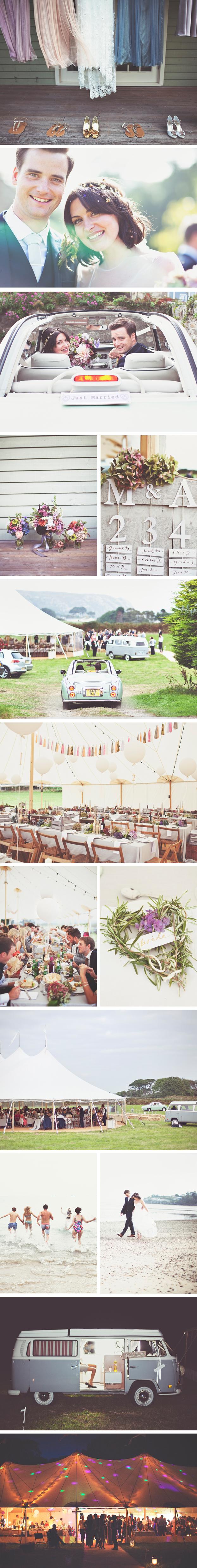 Alex & Matt PapaKata Sperry Wedding Fach Farm Caravan Park, Abersoch, North Wales