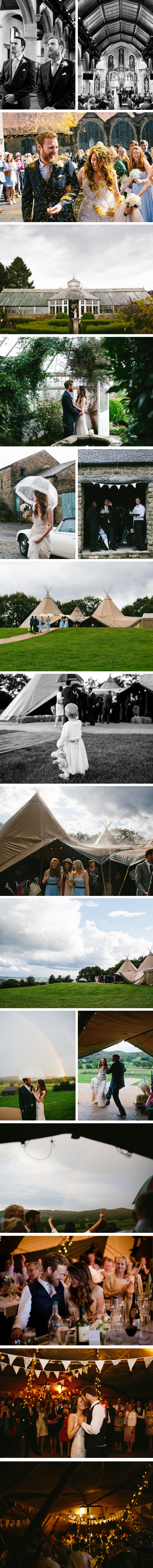 Joelle & Tom PapaKata Teepee Wedding Braisty Estate, Summerbridge, North Yorkshire