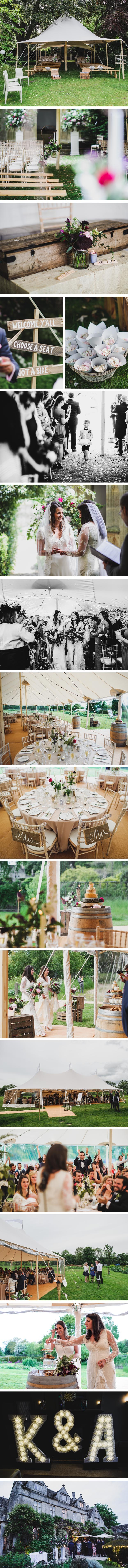 Amy & Kim PapaKata Sperry Wedding at Barnsley House, Gloucestershire