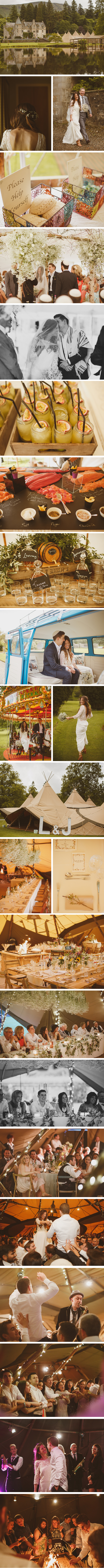 Lydia & James PapaKata Teepee Wedding at Duntreath Castle, Scotland