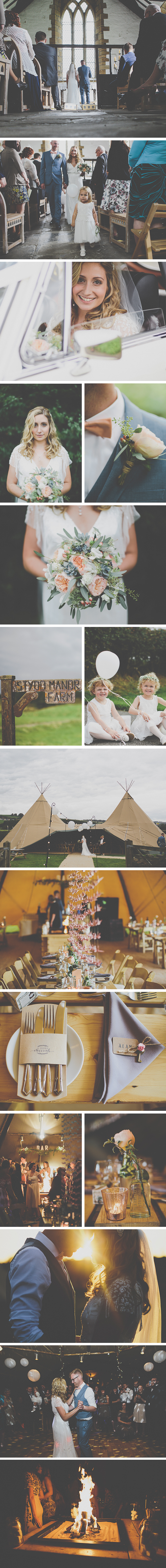 Rosie & Chris PapaKata Teepee Wedding at The Corporation Arms, Preston