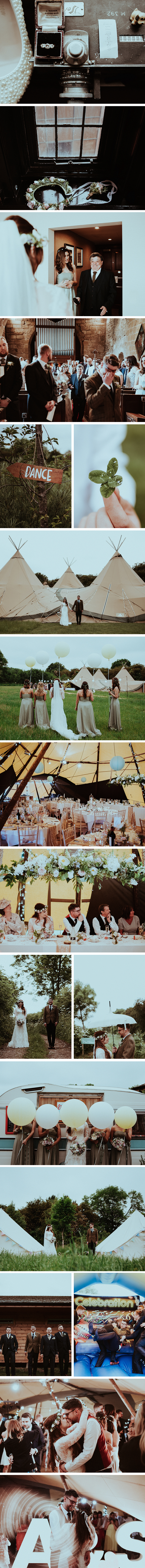 Alice & Scott PapaKata Teepee Wedding at The Hideaway @Baxby Manor, North Yorkshire
