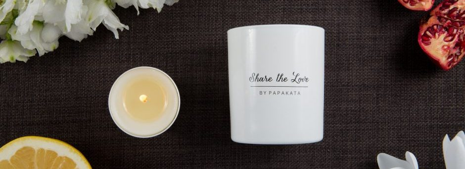 Share the love candle