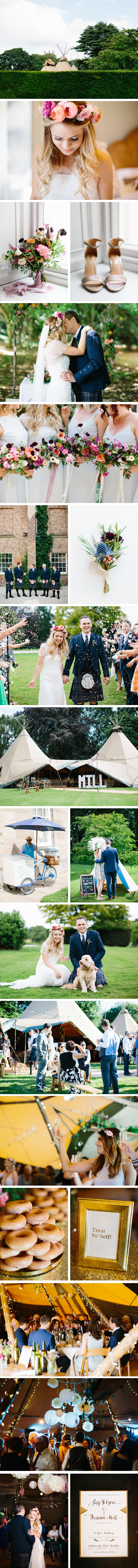 Fay & Graeme PapaKata Teepee Wedding at Saltmarshe Hall, Yorkshire