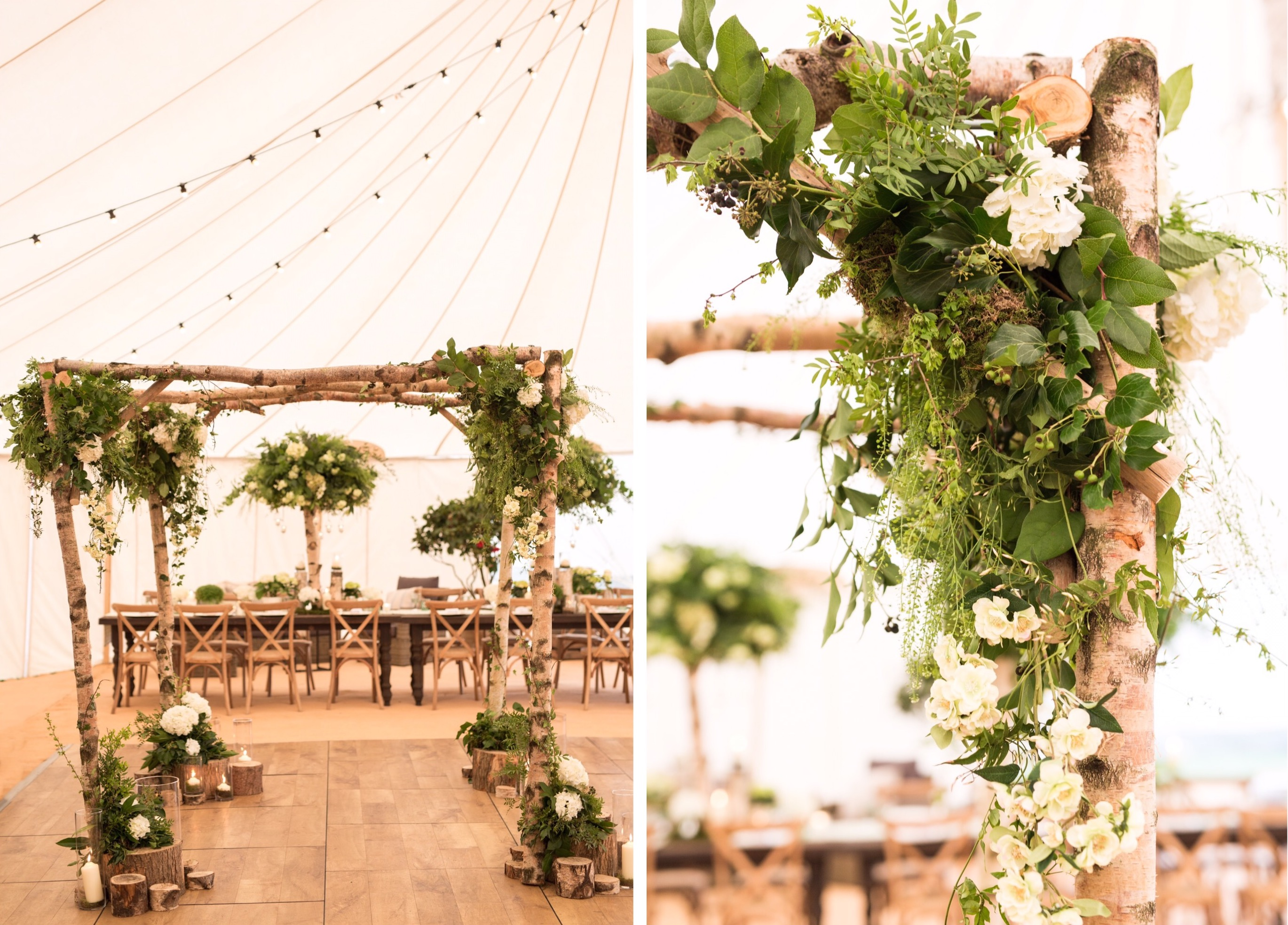 The new addition to our portfolio of luxury furnishings: Chuppah ceremony arch