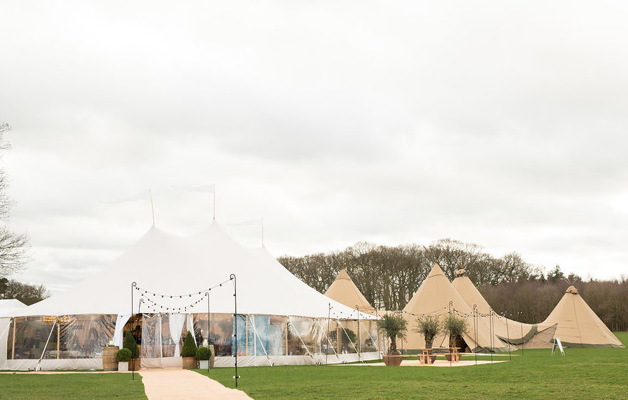 Sperry & Teepee set-up in the stunning surroundings of Escrick Park Estate