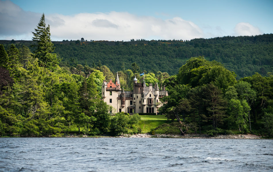 Aldourie Castle the only habitable castle on the shores of Loch Ness