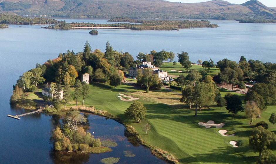 The heavenly setting of Loch Lomond Golf Club