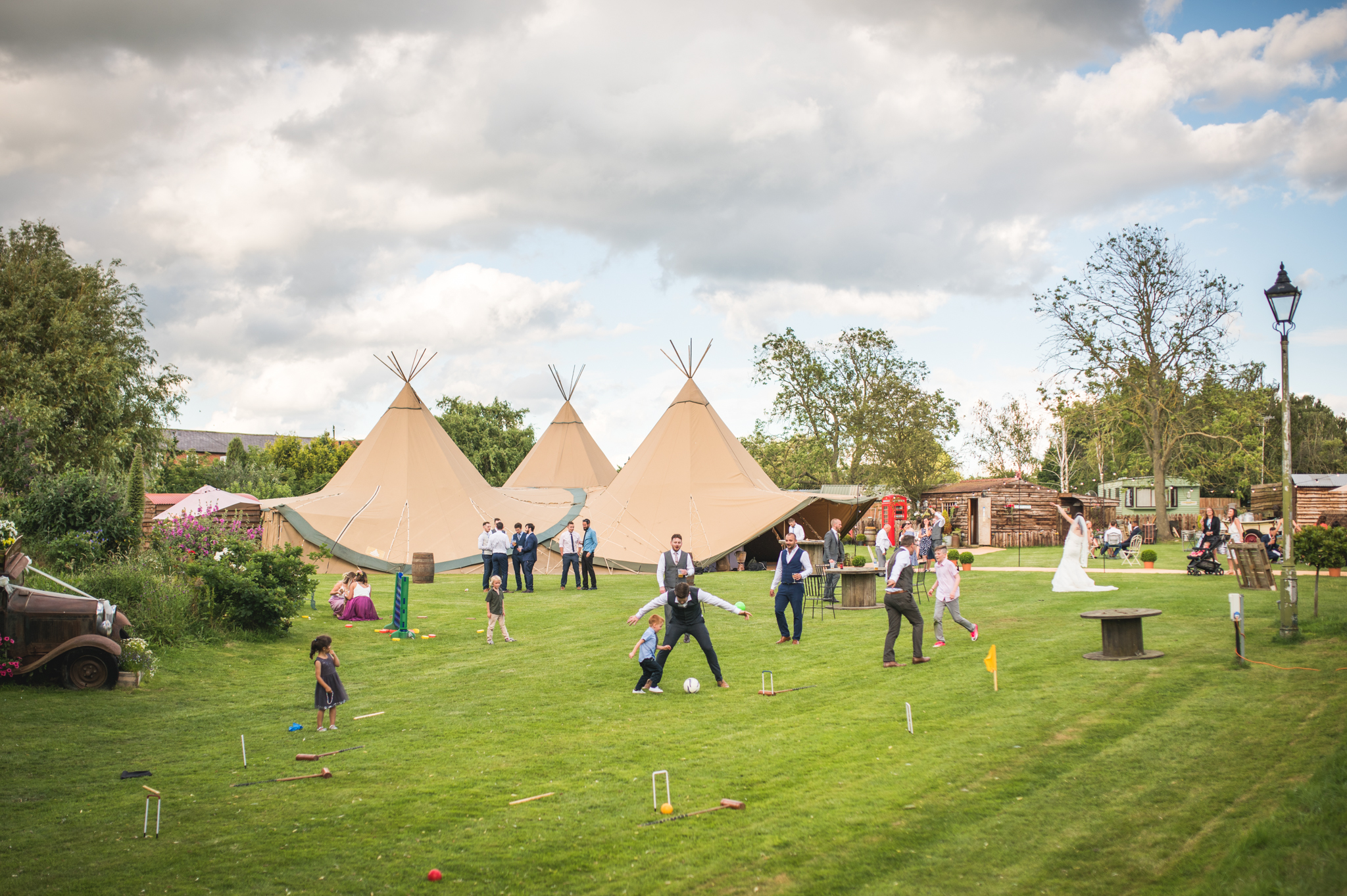PapaKata Teepees at Skipbridge Country Wedding Venue captured by Will Hey Photography