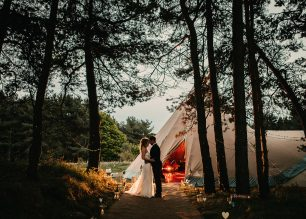 Emma & Gaz PapaKata Teepee. Image by John Johnston Photography.