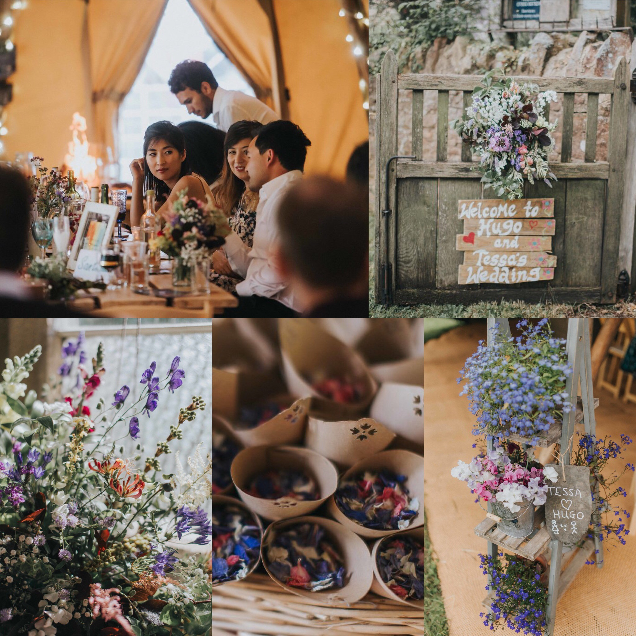 PapaKåta Teepee Wedding with Ultra Violet details shot by Kate Waters Photography