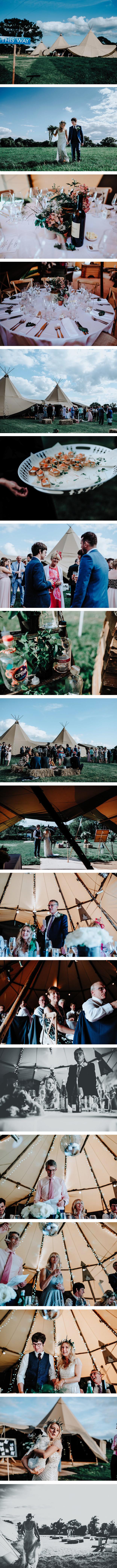 Emma & James's PapaKåta Teepee Wedding
