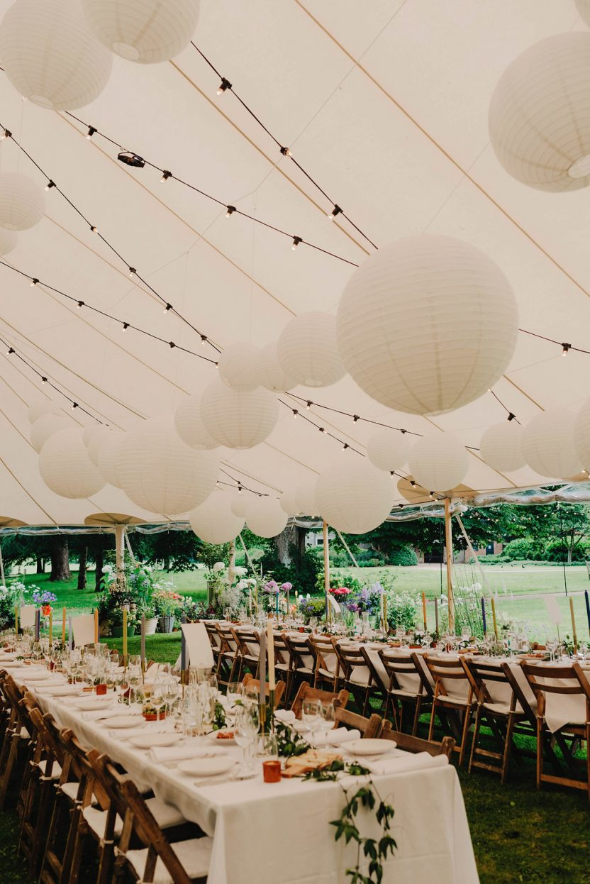 PapaKåta Sperry Tent Wedding with floating globe grid at West Dean Gardens by Cinzia Bruschini
