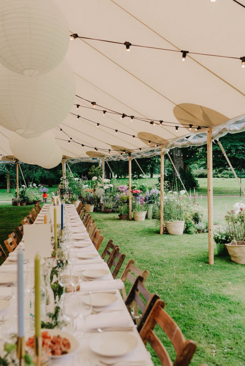 Bringing the outside in PapaKåta Sperry Tent Wedding at West Dean Gardens, Chichester, West Sussex, by Cinzia Bruschini