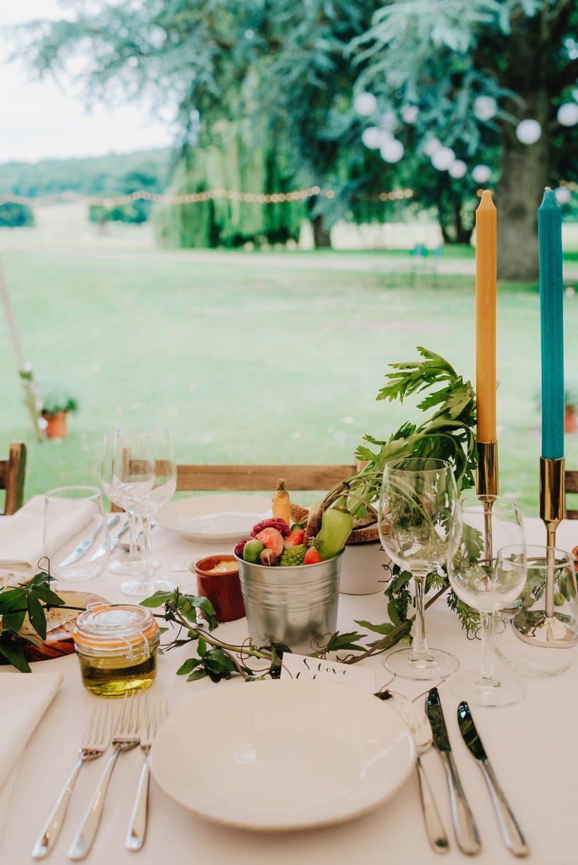 Simply perfect table setting PapaKåta Sperry Tent Wedding at West Dean Gardens by Cinzia Bruschini
