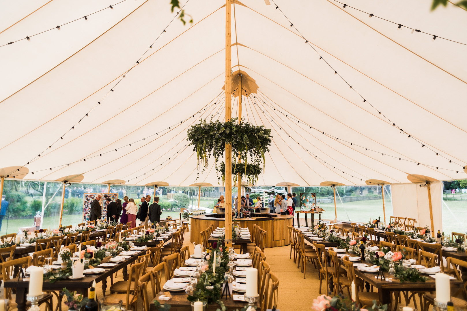 Sarah and Joe's PapaKata Sperry Wedding: Floral crowns by Julia-Anna Flowers