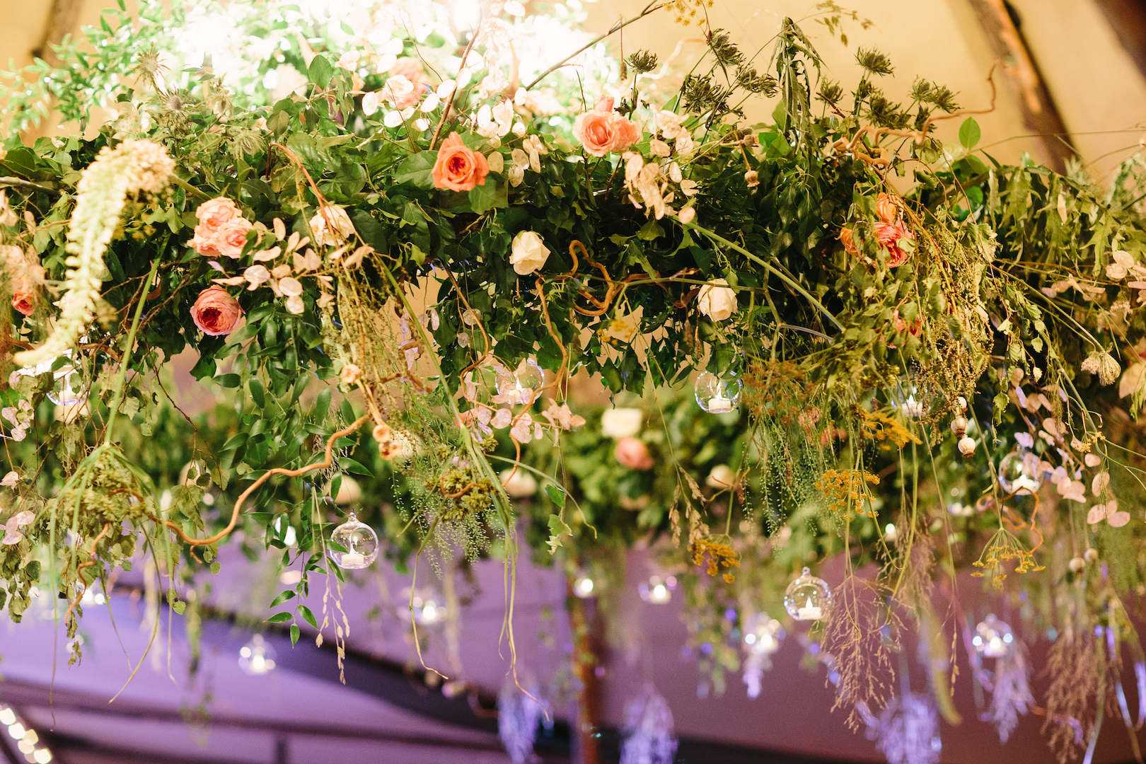 Brennan & Tom's PapaKåta Teepee Wedding, Cornwell Manor: Floral Details by Fiona Perry