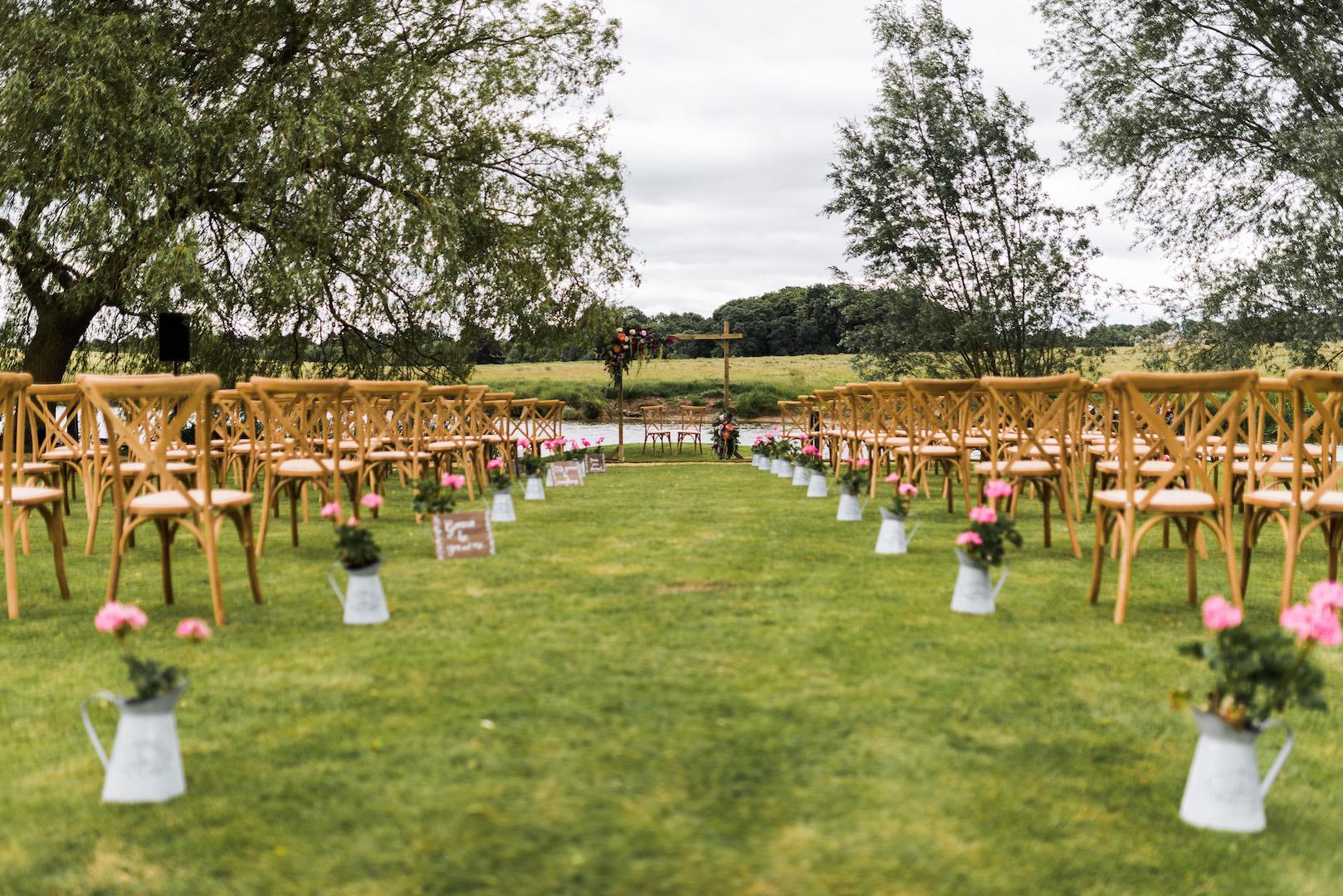 Sarah and Joe's PapaKata Sperry Wedding: Ceremony Setting