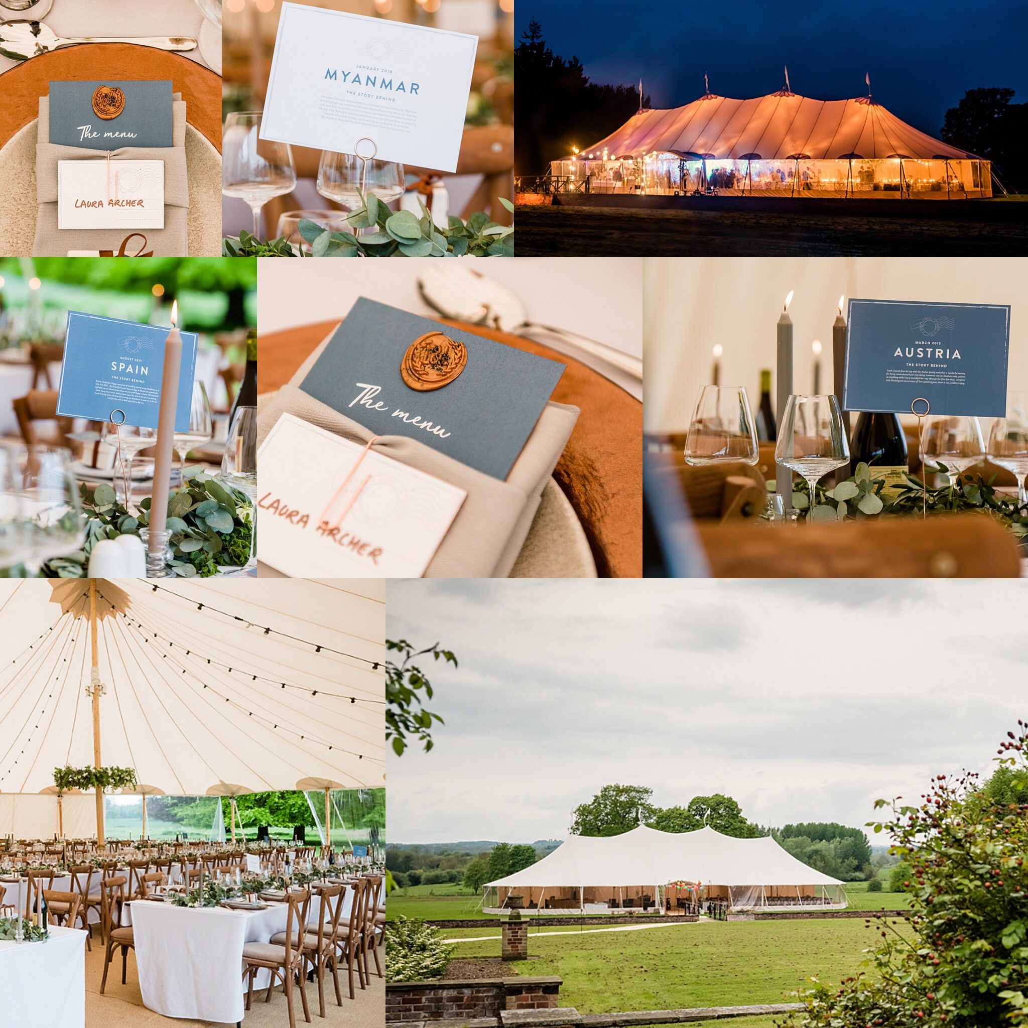 PapaKåta Sperry® Tent Wedding with Lucy Wright Events at Newby Hall: Image by Dominic Wright Photography