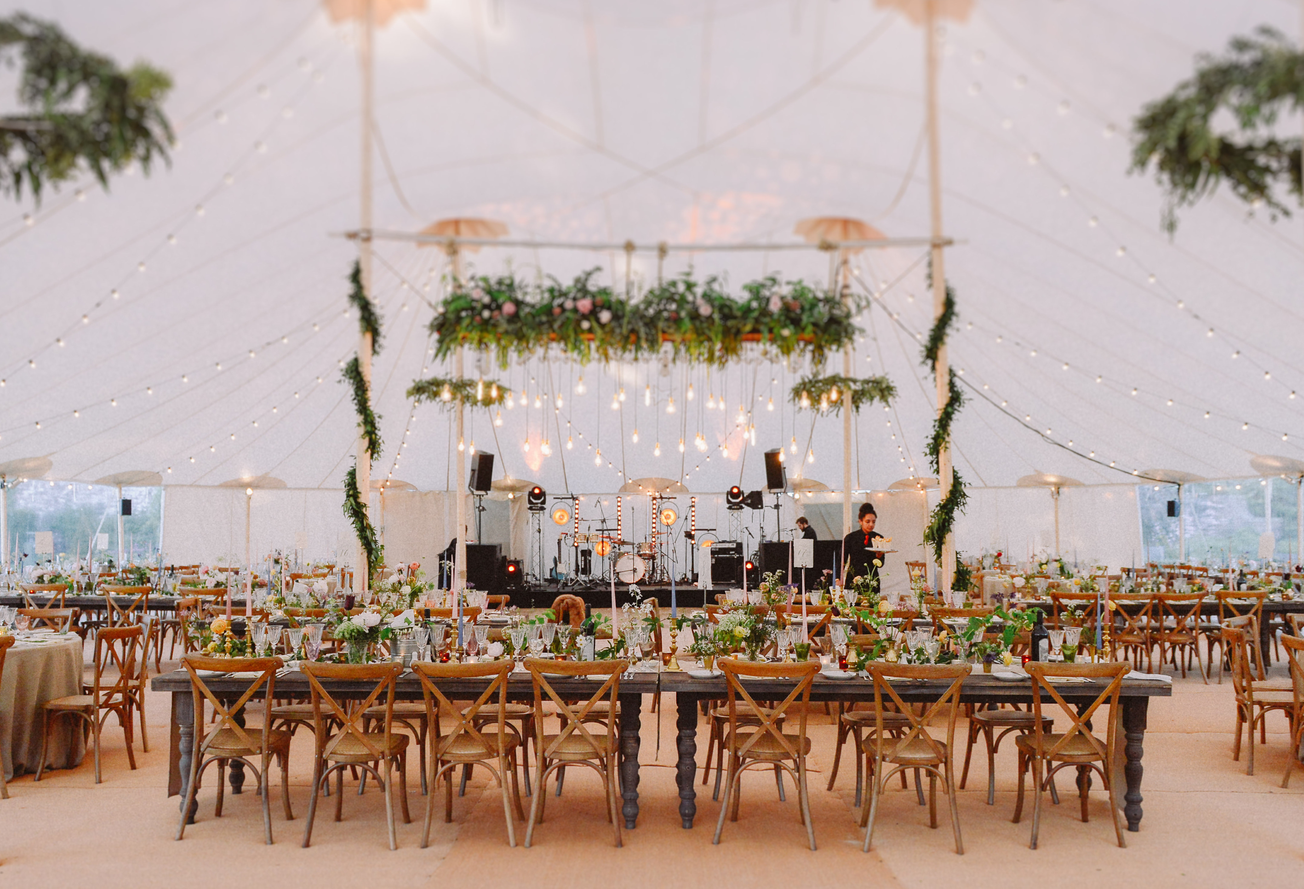 PapaKata Sperry Tent interior by L&V Photography