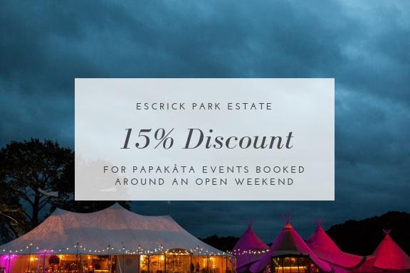 Escrick Park Estate exclusive PapaKåta discount