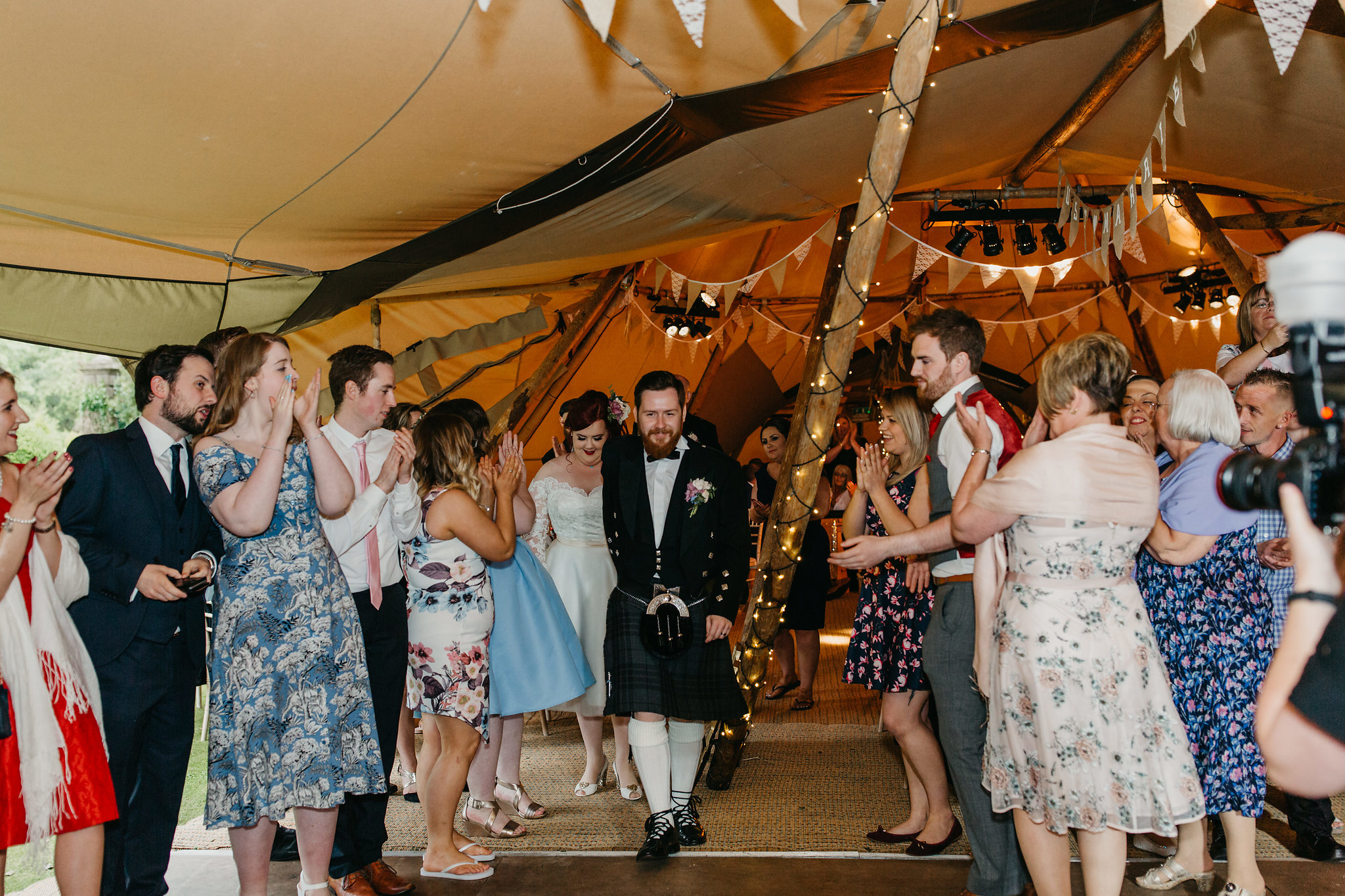 PapaKata Teepee wedding at Greenbank Gardens Scotland - Arriving in Style