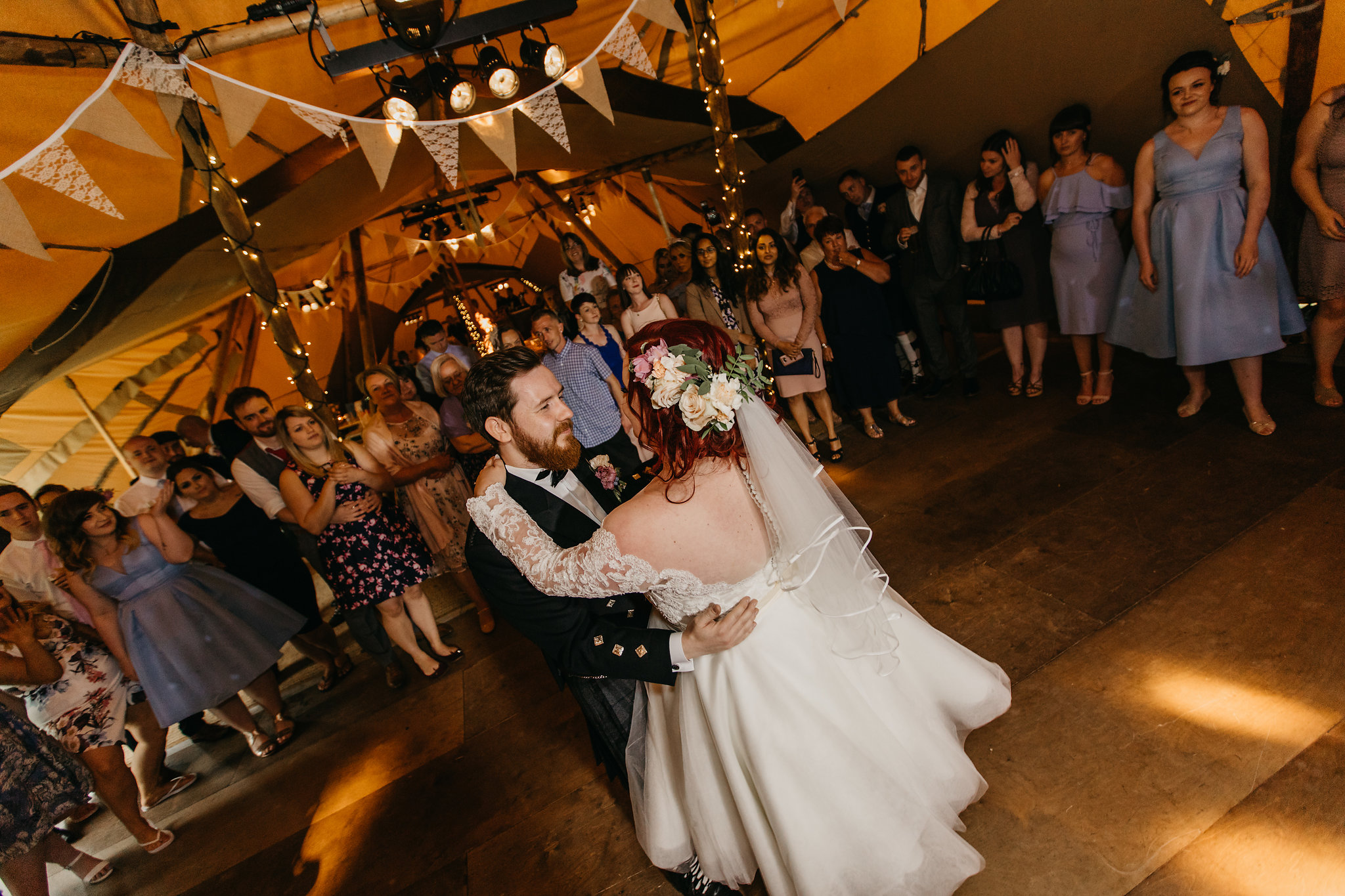 PapaKata Teepee wedding at Greenbank Gardens Scotland - The First Dance