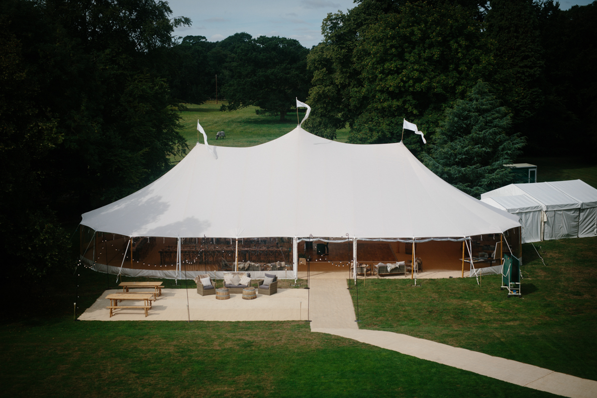 Dannii & Tom's PapaKåta Sperry Wedding at Everingham Hall: Sperry Tent exterior by Wynn Davies Photography