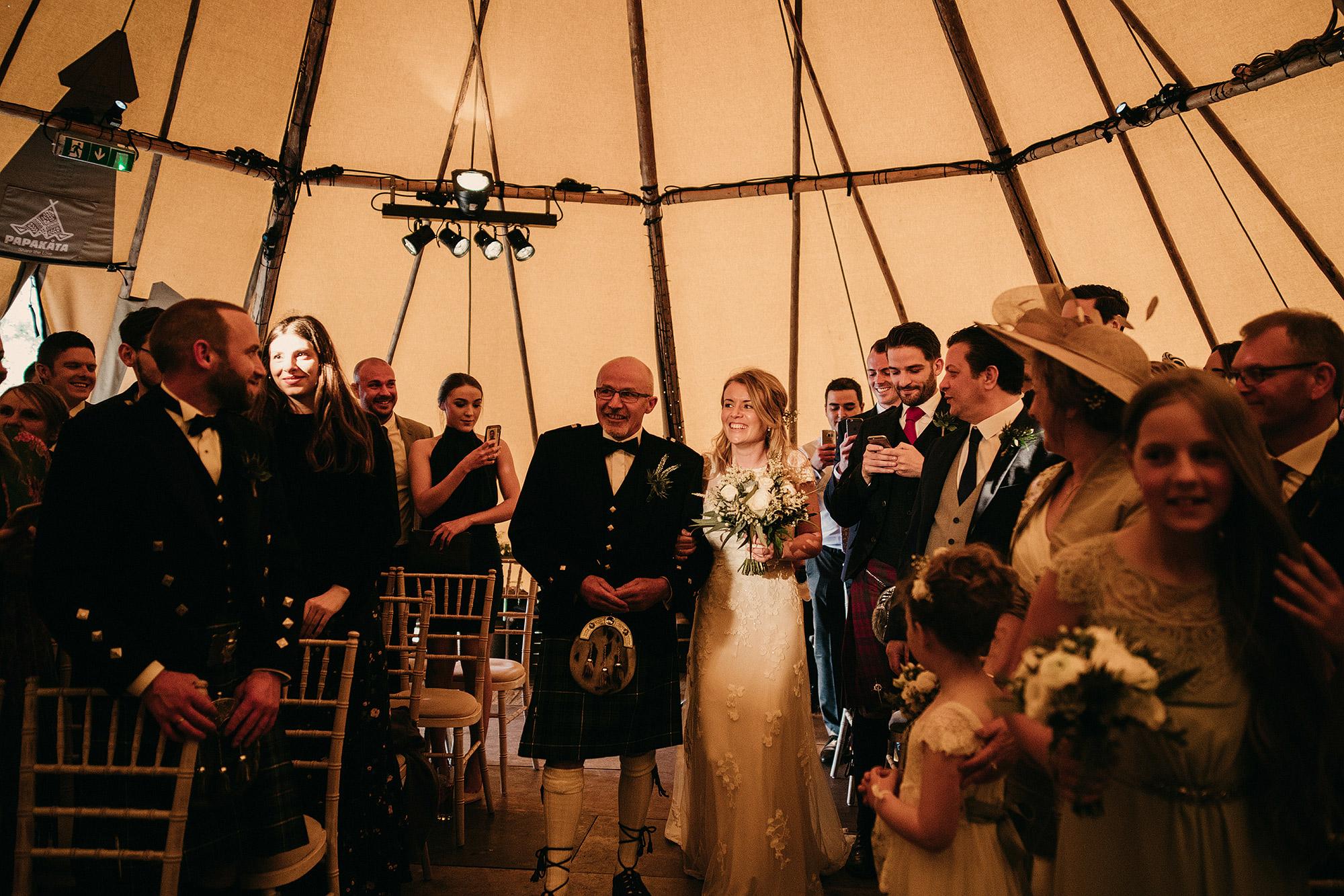 Emma & Gaz's PapaKåta Teepee Ceremony
