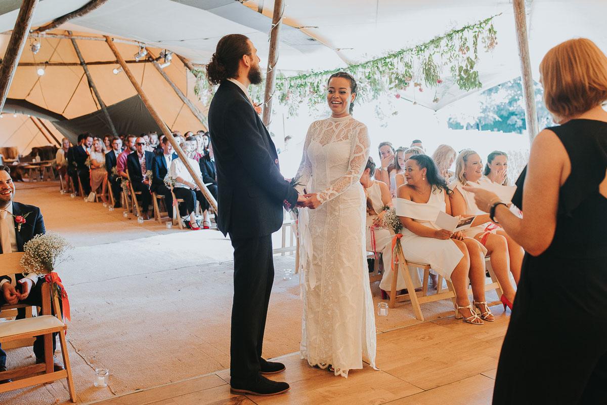 Cordelia & Matt's PapaKåta Teepee Ceremony by Laura Calderwood Photography