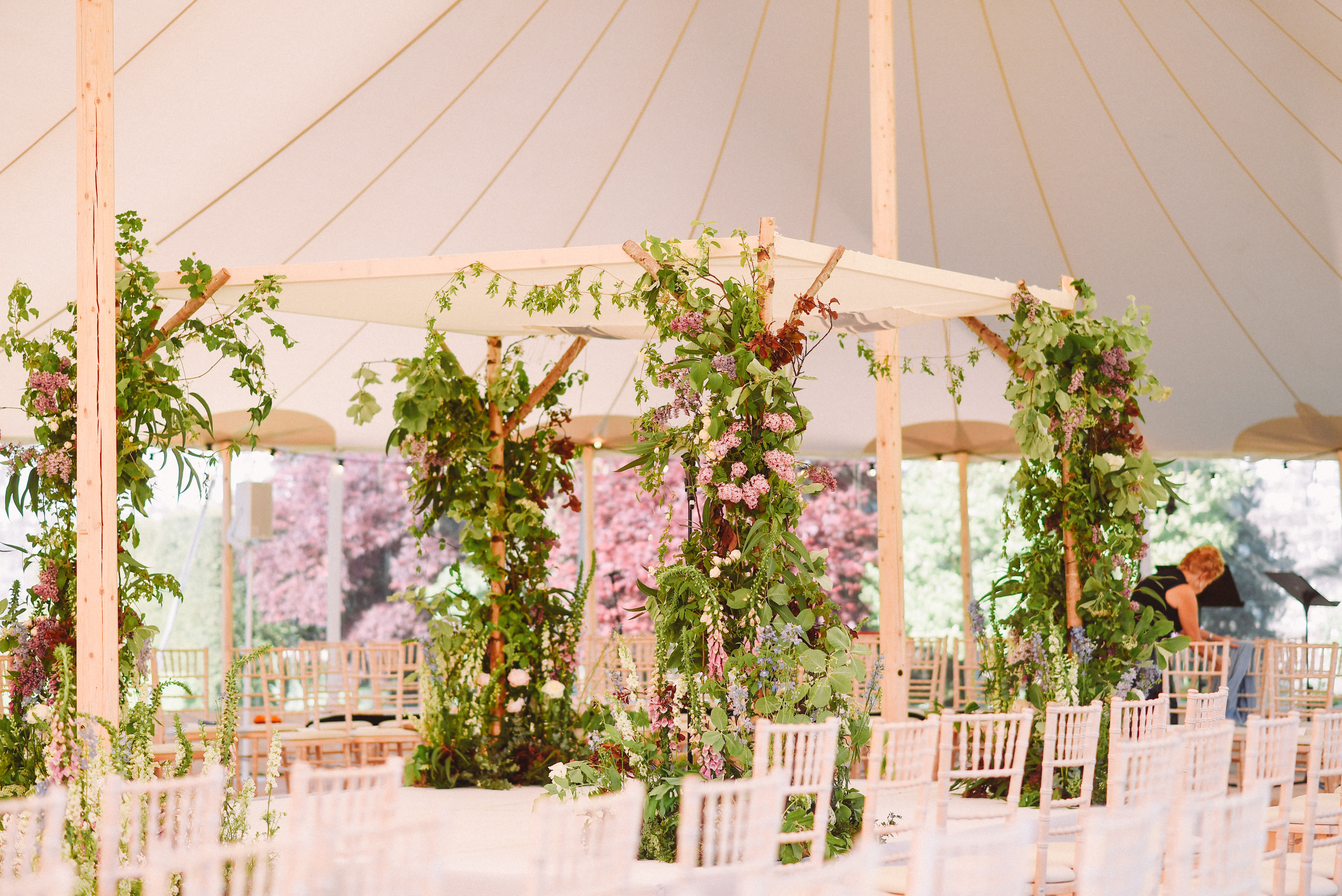 PapaKata Sperry Tent Ceremony by L&V Photography