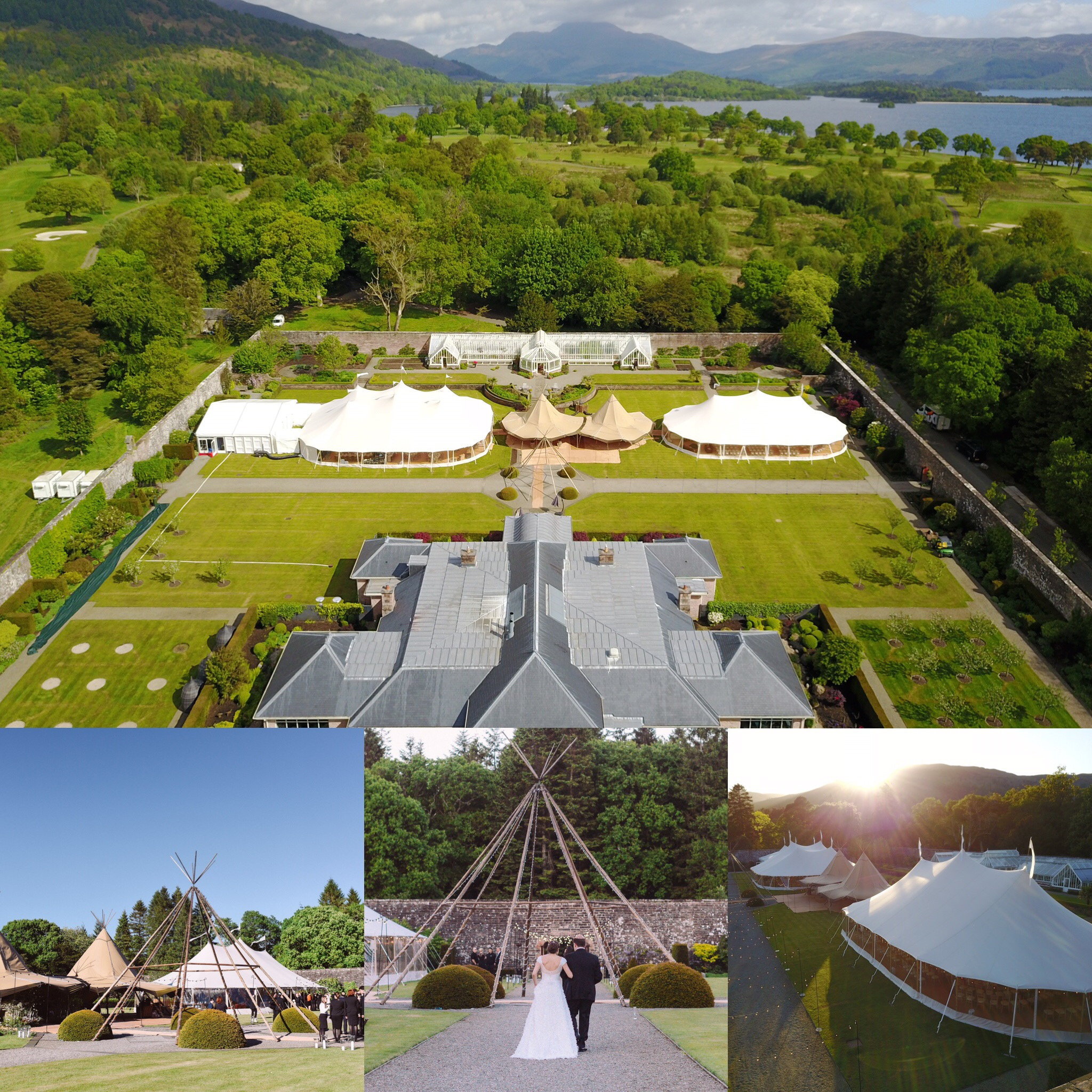 PapaKata Sperry Tent and Teepee Wedding in Loch Lomond Scotland