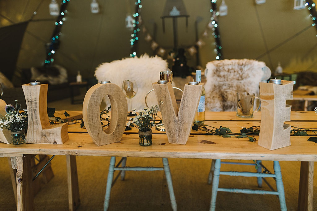 PapaKata Chilled DIY Festival Inspired Teepee Wedding Captured by Anna Wood Photography- Love letters- Rustic Festival Teepee Inspiration