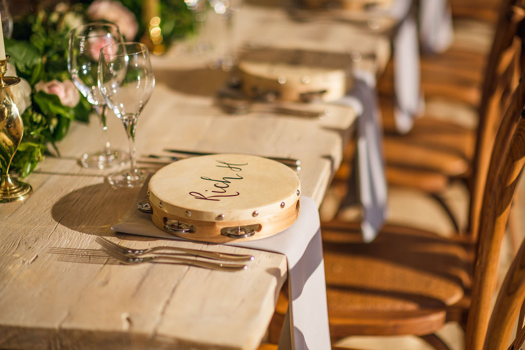 PapaKåta Couple Lucy & Martin's Sperry Tent Wedding at Norton Hall captured by Dan Morris Photography - Tambourine Place Names