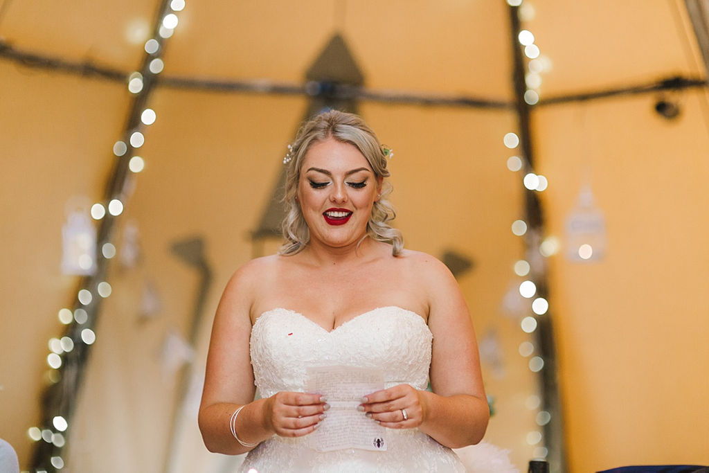 PapaKata Chilled DIY Festival Inspired Teepee Wedding Captured by Anna Wood Photography- Speeches
