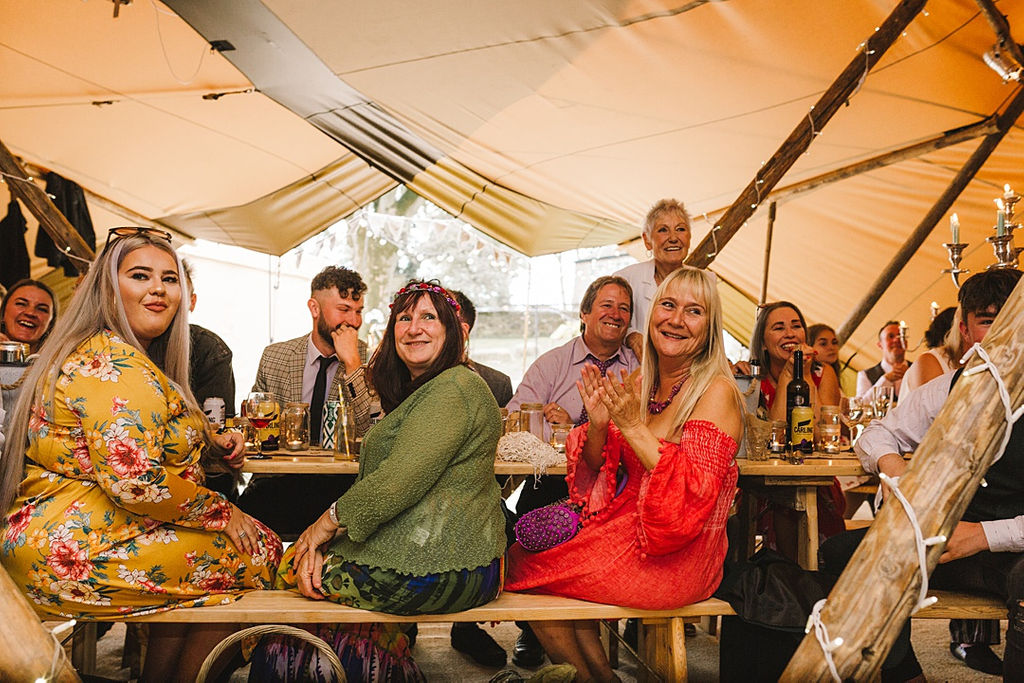 PapaKata Chilled DIY Festival Inspired Teepee Wedding Captured by Anna Wood Photography- Wedding Guests