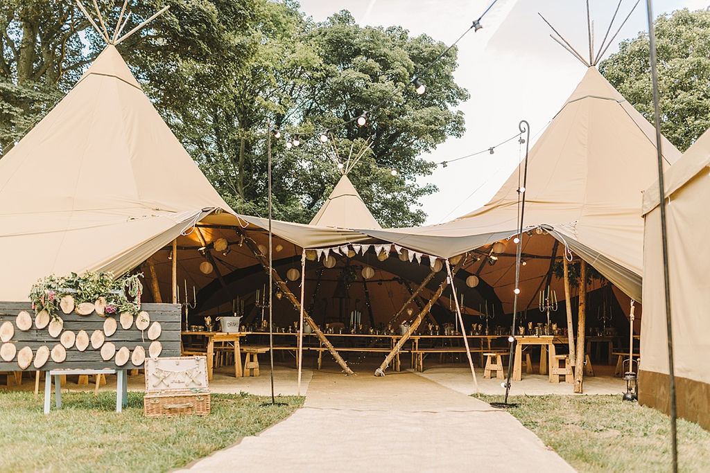PapaKata Chilled DIY Festival Inspired Teepee Wedding Captured by Anna Wood Photography- Teepee Exterior