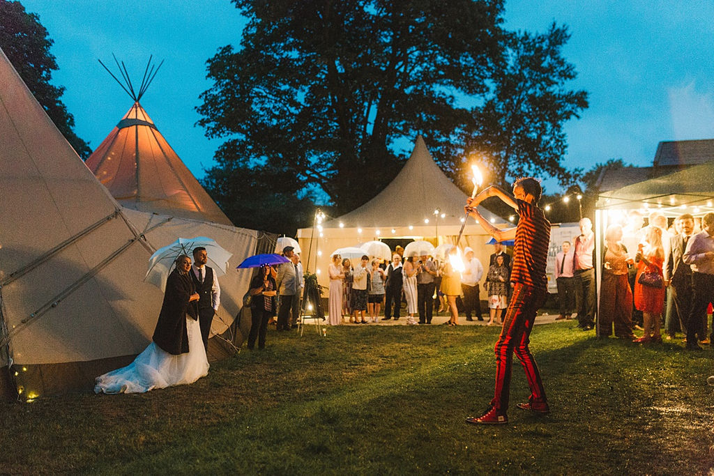 PapaKata Chilled DIY Festival Inspired Teepee Wedding Captured by Anna Wood Photography- Teepee Exterior at night