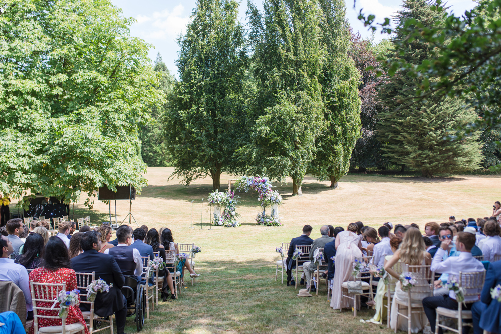 PapaKåta Teepee Wedding in Buckinghamshire Planned by Charlotte Elise Weddings and Events captured by Cecelina Photography- ceremony setting