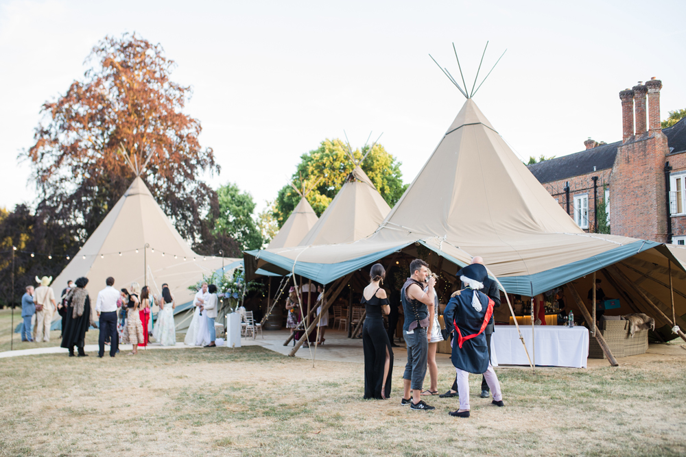 PapaKåta Teepee Wedding in Buckinghamshire Planned by Charlotte Elise Weddings and Events captured by Cecelina Photography-Teepee external