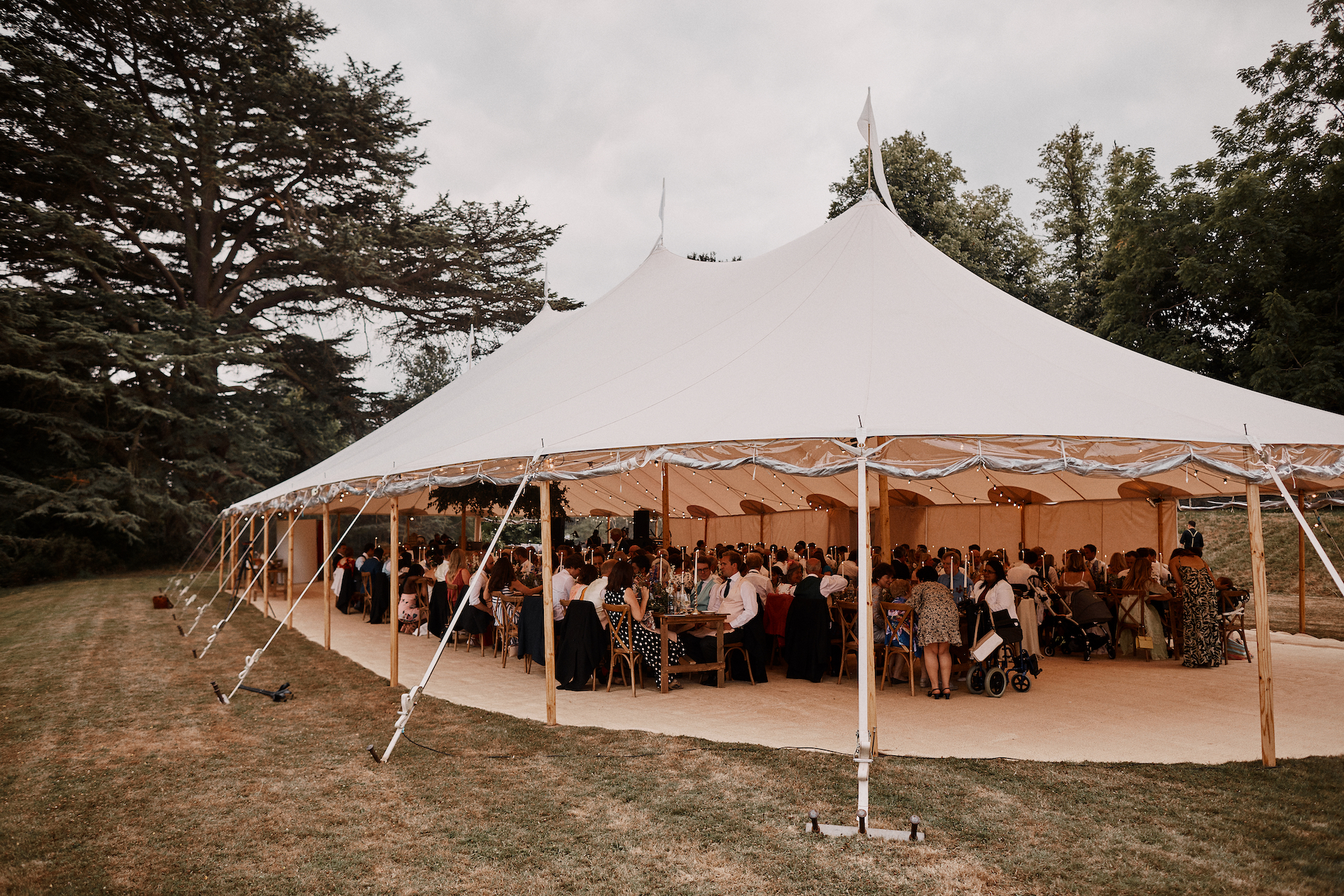 PapaKata Couple Claudia & Jimmy Sperry Tent Wedding at Norton Hall captured by Benjamin Wheeler- Sperry Tent Exterior