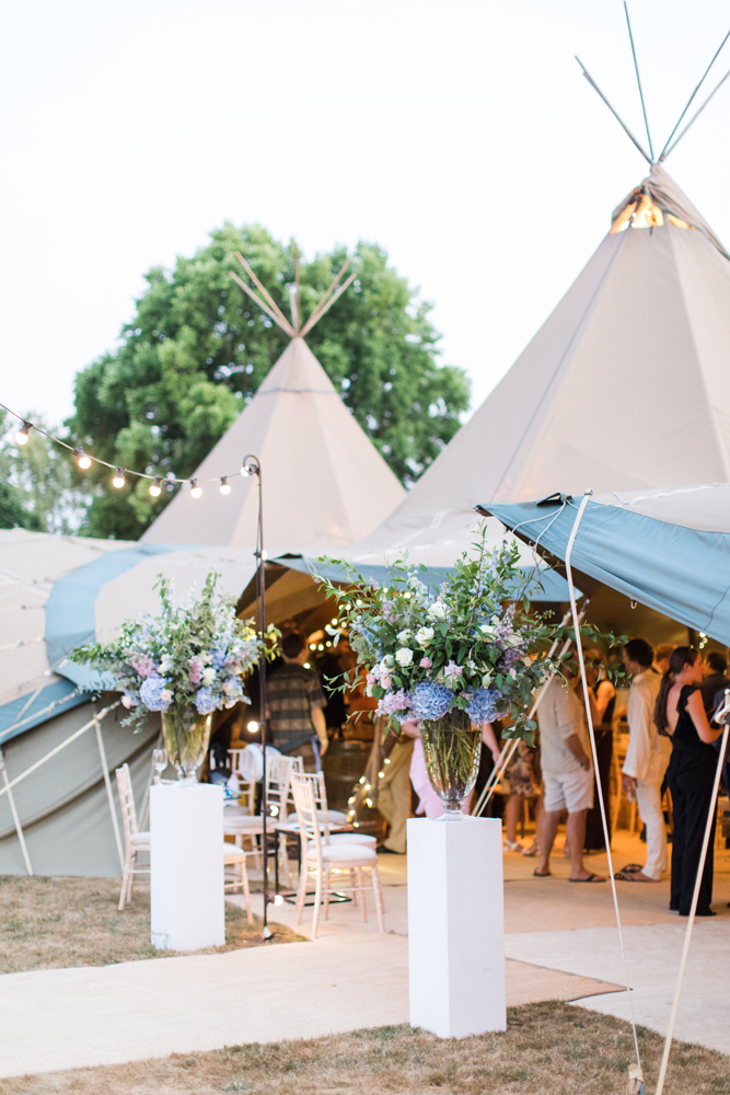 PapaKåta Teepee Wedding in Buckinghamshire Planned by Charlotte Elise Weddings and Events captured by Cecelina Photography-Teepee entrance ideas