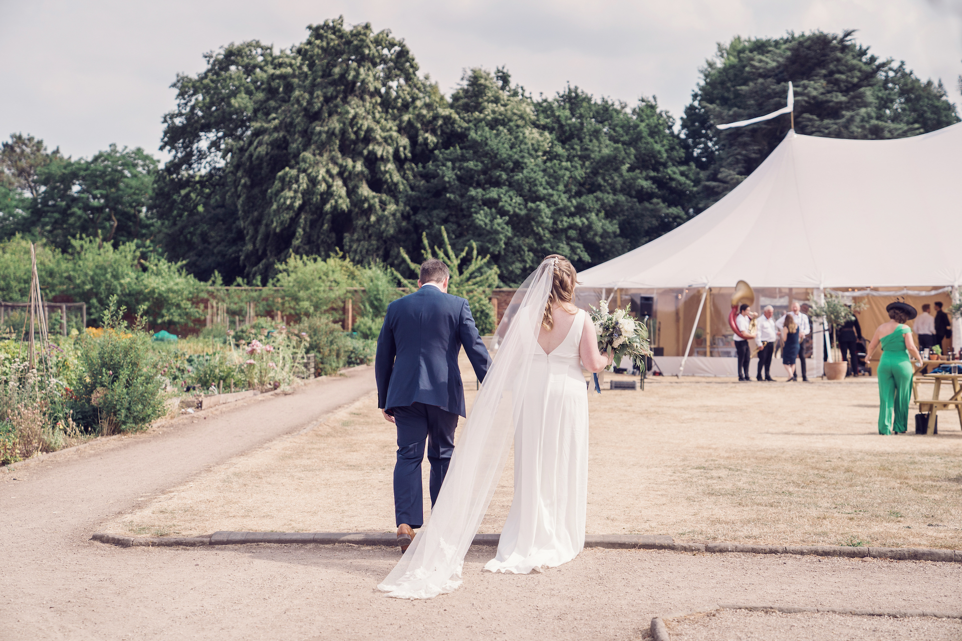 PapaKåta couple Louise & Alex's Sperry Wedding at Elford Hall Garden, Staffordshire captured by Jessica Raphael Photography- Bridal Style, Dress by Charlie Brear