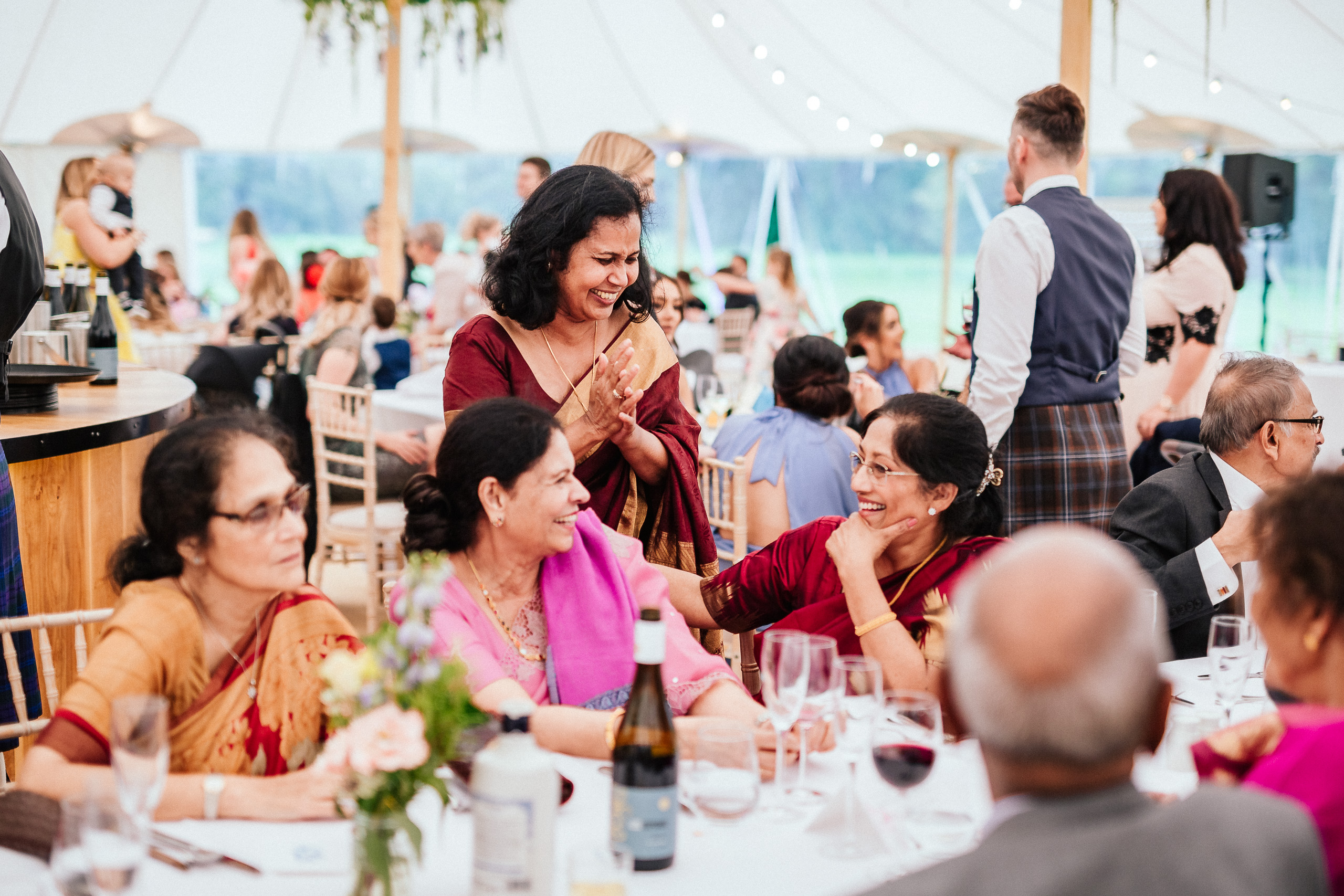 PapaKåta couple April & Martin's Sperry wedding at Arniston House, Scotland captured by Laurence Howe Photography- Indian Wedding Styling