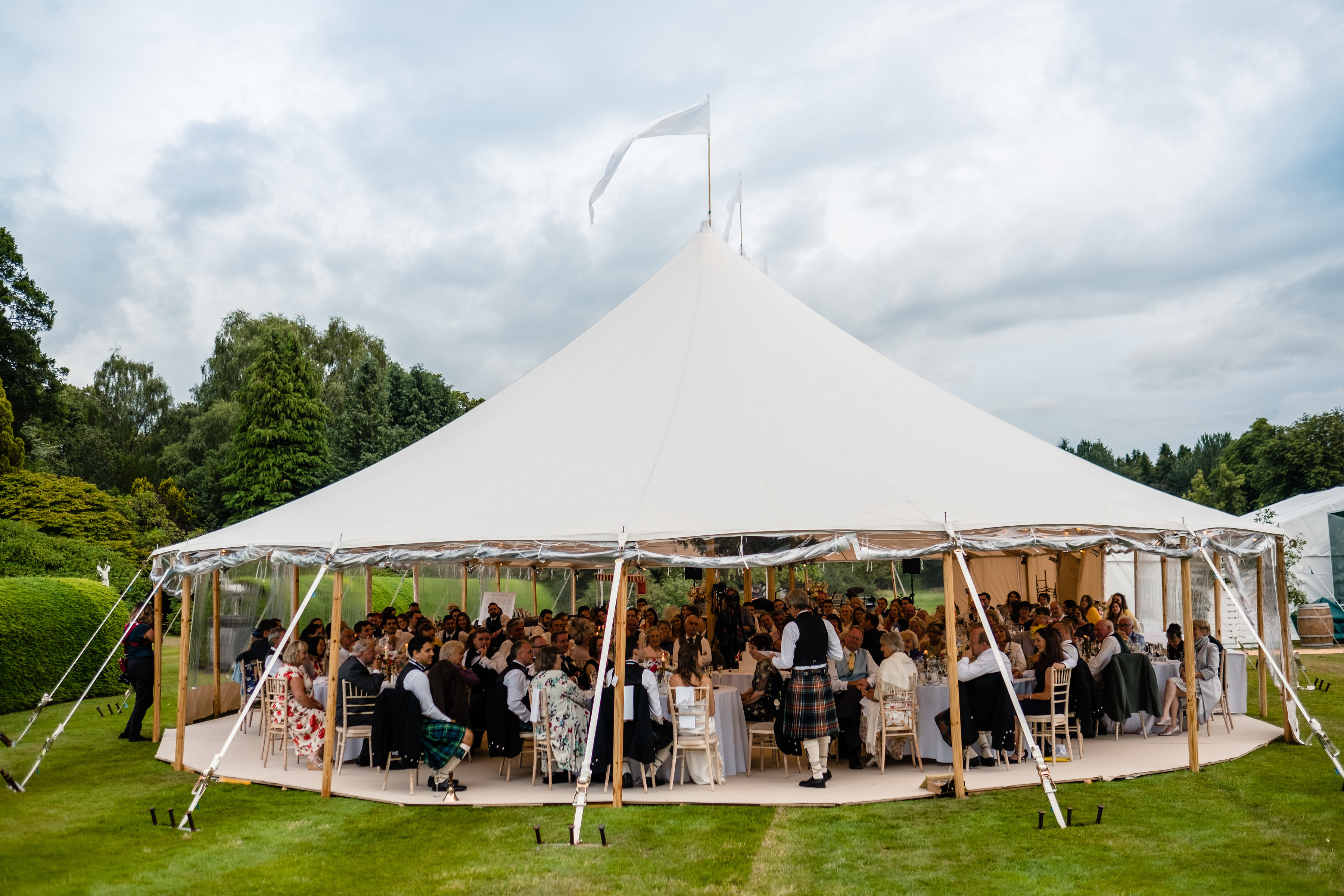 PapaKåta couple Lucy & Tom's Sperry Wedding at Gordon Castle Scotland captured by Helen Abraham Photography