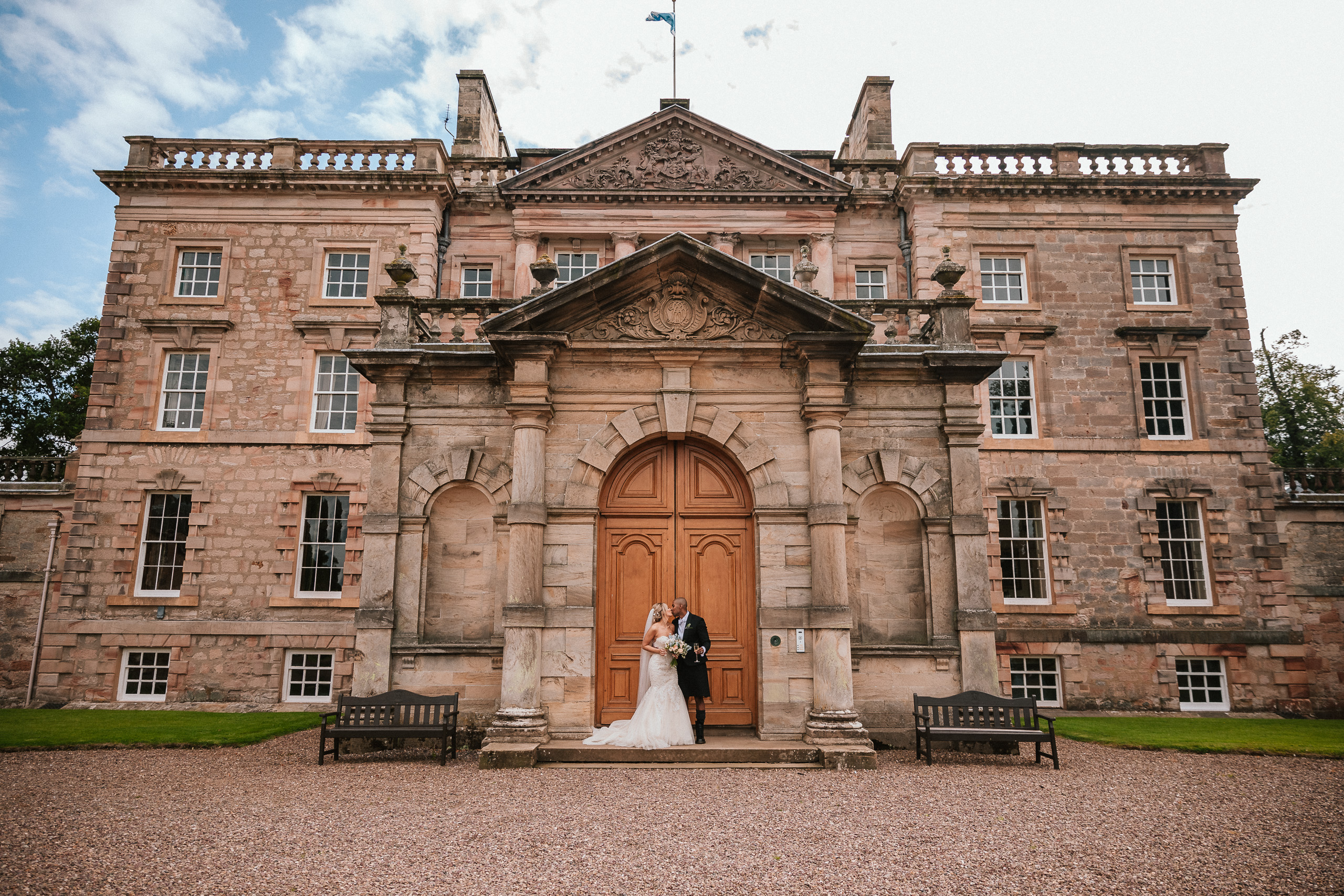 PapaKåta couple April & Martin's Sperry wedding at Arniston House, Scotland captured by Laurence Howe Photography